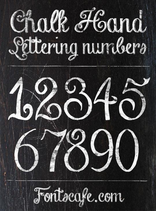 Download Chalk Hand Lettering, the original, vintage blackboard font