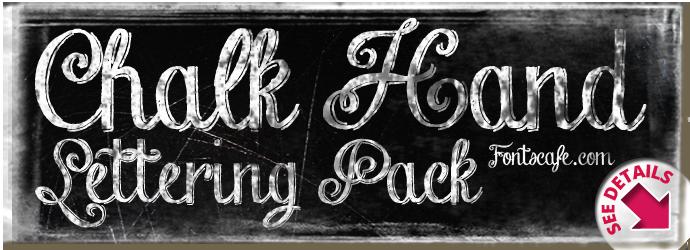 """Chalk Hand Lettering Pack"" fonts"