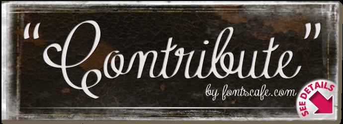 """Contribute"" font"