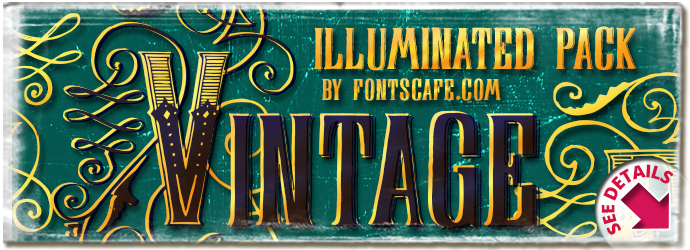 Display Of Character Vintage Illuminated Pack