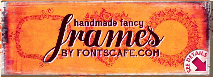 """Handmade Fancy Frames"" font"