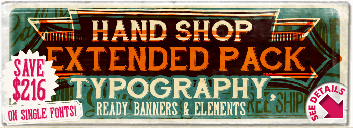 """Hand Shop  Extended Pack"" fonts"