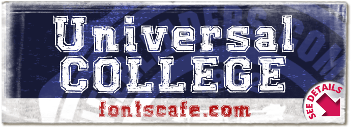 """Universal COLLEGE"" font"